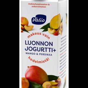 Luonnonjogurtti (maito), mangosose 14 %, persikkasose 1,5 % ja aromit.